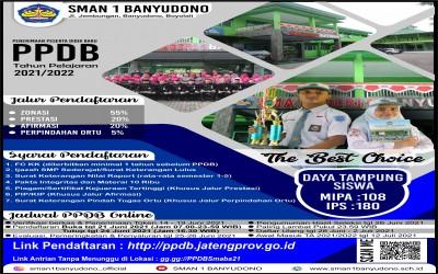 INFO PPDB 2021 SMAN 1 Banyudono